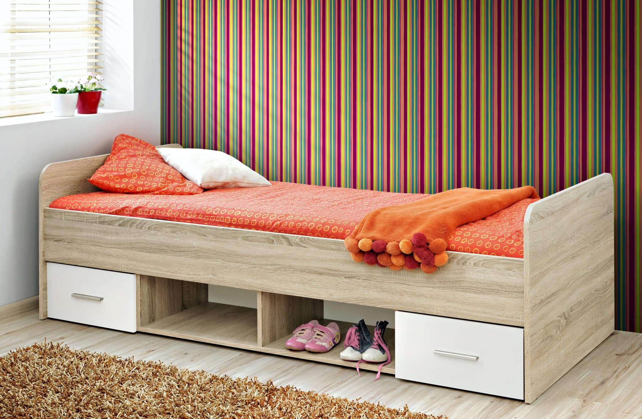 Łóżko dziecięce DINO Dąb Sonoma/Biały Mat